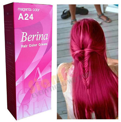 Best PINK A24 Magenta Permanent Hair Color Cream Hair Dye Professional Use