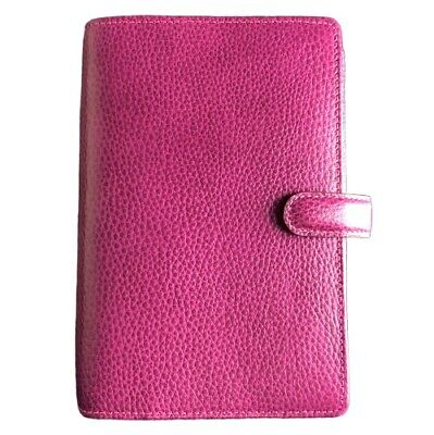 Filofax Finsbury Personal Organizer Planner Pebbled Leather Raspberry Pink