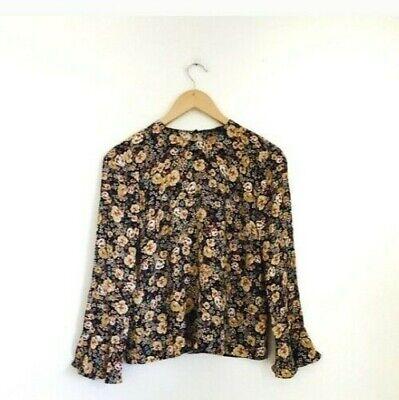 Zara Floral Blouse Size XS