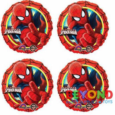 Happy Birthday Spiderman (Marvel Ultimate Spiderman Happy Birthday Balloon Mylar Foil Balloons)