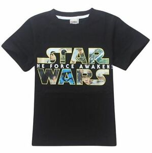 STAR WARS Top Kids Boys Girls Cotton Short Sleeve T-Shirts Cozy