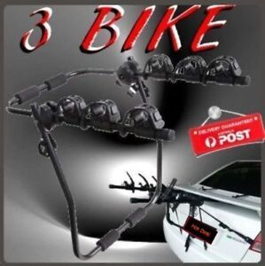 3 Bike Rear Bicycle Carrier Boot Rack Hatch Sedan SUV Mount Trunk Baulkham Hills The Hills District Preview