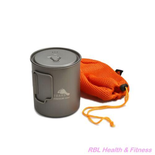TOAKS Titanium 750ml Pot POT-750 - Outdoor Camping Cup Bowl Pot