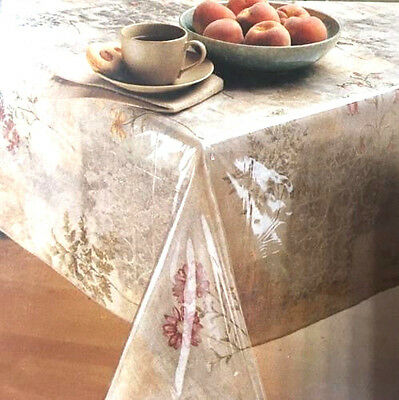 Clear Plastic Table Cover (Clear Vinyl Tablecloth Heavy Plastic Protector Table Cover ASSORTED SIZES)