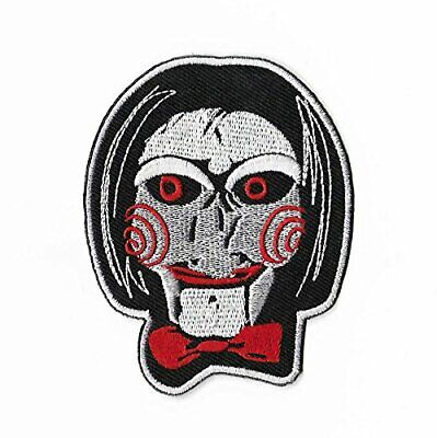 Billy The Puppet Patch Embroidered Iron on Badge Saw Jigsaw Kramer Horror Movie  ()
