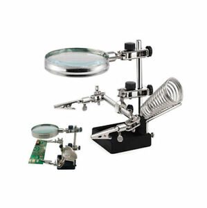 Soldering-Clamp-Stand-Magnifier-Glass-Clamps-Modelling-Stand-Helping-Third-Hand