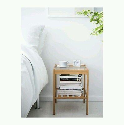 منضدة جانب السرير جديد Table End Nightstand Natural Shelf Bedroom Furniture Side Stand Night Storage