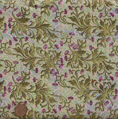 - Eclectic Garden green pink flowers Jason Yenter ITB fabric