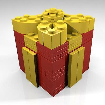 Constructibles  Christmas Holiday Box Lego  Parts   Instructions Kit