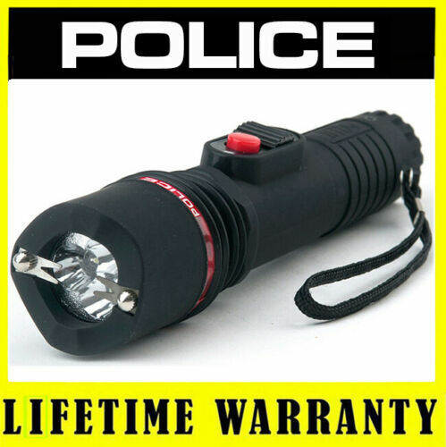 POLICE Stun Gun 1188 180 BV Heavy Duty Rechargeable With LED Flashlight