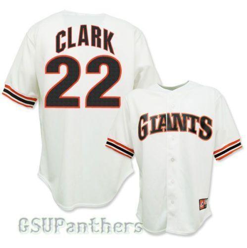 best website 43dc8 7f581 san francisco giants 22 will clark 2012 black fashion jersey
