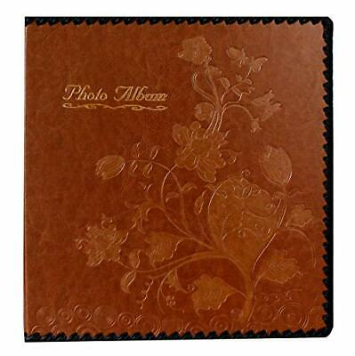 Beautyus Photo Album Book, Family Album, Leather Cover, Holds (Medium|Brown) Medium Photo Album