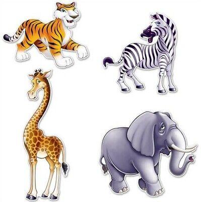 Safari Animal Paper Cutouts 4 Pack 15