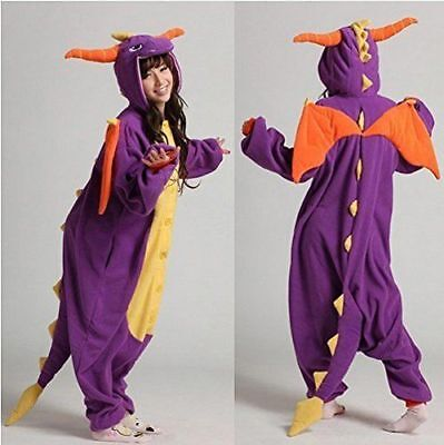 Halloween Spyro Purple Dragon Onesiee Kigurum Fancy Dress Costume Bodysuit Pajam - Spyro Dragon Costume