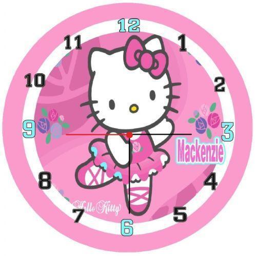 Hello Kitty Wall Clock Ebay