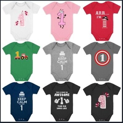 1st BIrthday Party Outfit - BodySuit Baby One Piece For Boys / Girls 12M 18M 24M