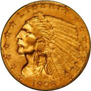 1908 Gold Quarter Eagle
