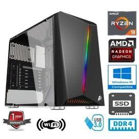 RYZEN 9 3900X 3.8GHz 12 CORE 32G RAM 960G SSD 2TB RADEON RX5500XT 8GB GAMING PC