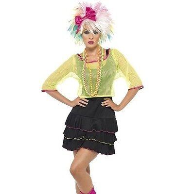 Damen 80er Jahre 1980er Pop Schlampe Maskenkostüm Ra Outfit von Smiffys