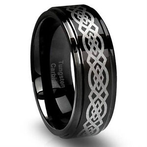 TUNGSTEN CARBIDE STAINLESS STEEL STERLING SILVER RINGS