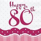 80th Birthday Serviettes