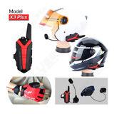 2x Motorcycle Bluetooth Helmet Walkie Talkie Support Wireless Remote Control PTT