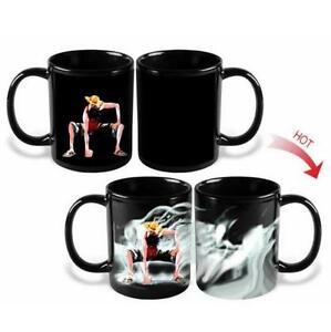 Anime One Piece Luffy Heat Reactive Color Change Coffee Mug Cup Gift 1pc