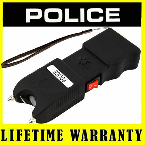 POLICE Stun Gun TW10 180 BV Rechargeable LED Flashlight Siren Alarm