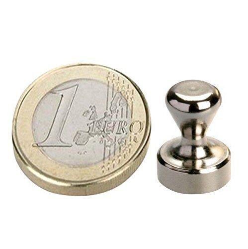 10 NEODYM Pinnwand Magnete Ø12x16 mm Stahl Kegelmagnete Nickel Büro Tafel Schule