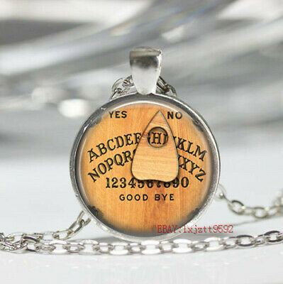 Personalized Ouija Board Glass Cabochon Tibet silver pendant chain necklace gift - Personalized Gift
