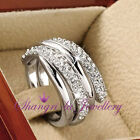 White Gold Plated Wrap Fashion Rings
