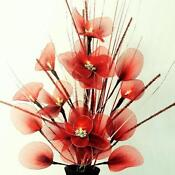 Red Artificial Flower Arrangements