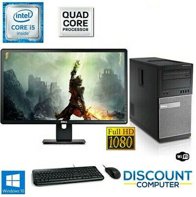 Gaming PC Desktop Computer i5 16GB 120GB SSD+1TB Win10 22 LCD Keyboard/Mice Set