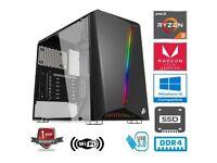 NEW with warranty - AMD RYZEN 3 3200G 3.6GHz QUAD CORE 8G RAM 120GB SSD VEGA 8 2GB GRAPHIC GAMING PC