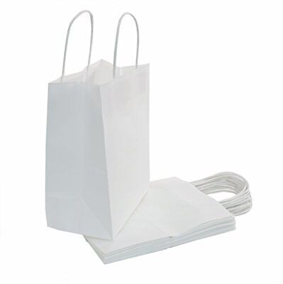 Bulk White Kraft Paper Bags With Handles Party