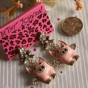 Betsey Johnson Pig Earrings