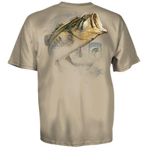 Bassmaster shirt ebay for Bass fishing shirt