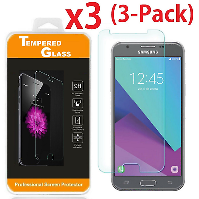 3-PACK Tempered Glass HD Screen Protector for Samsung Galaxy J3 Prime MetroPCS