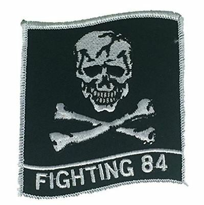 USN NAVY VF-84 FIGHTING 84 JOLLY ROGER PATCH FIGHTER SQUADRON NAS OCEANA