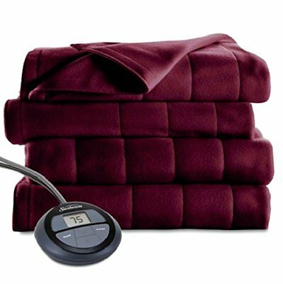 King Size Dual Control Electric Blanket Microplush 10 Heat Settings