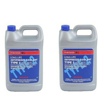 For Honda Acura Set of 2 Gallons Engine Coolant Antifreeze Type 2 Blue Genuine