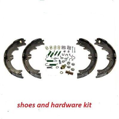 Rear Emergency Parking Brake Shoe Set w/ Hardware Kit for Dodge Chevy pick ups