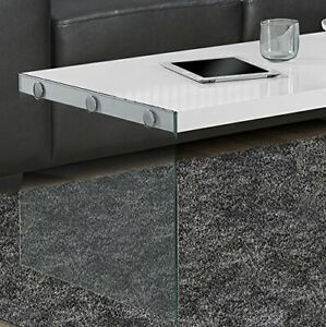 Coffee Table - Modern, Minimal, Glass and White