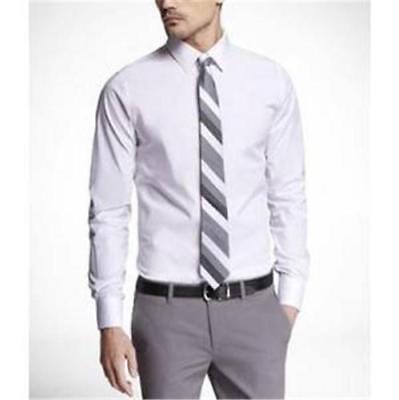 NEW Express Men's Size Medium M  15- 15 1/2 Extra Slim White 1MX Dress Shirt