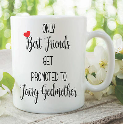 Only Best Friends Get Promoted To Fairy Godmother Mug Surprise Gift