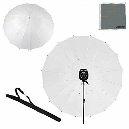 Fomito 7 feet Mega Parabolic Reflector Umbrella White in 2 sides