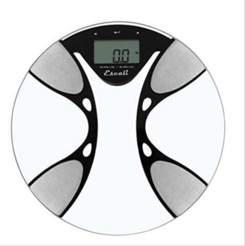 Escali BFBW200 Glass Body Fat/ Body Water Digital Bathroom S