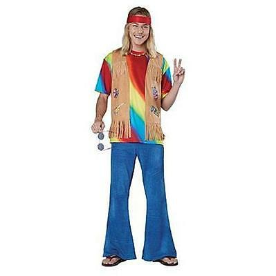 NEW MENS TOTALLY GHOUL TIE DYED HIPPIE HALLOWEEN COSTUME SIZE M PARTY DRESS - Hippie Costumes For Mens
