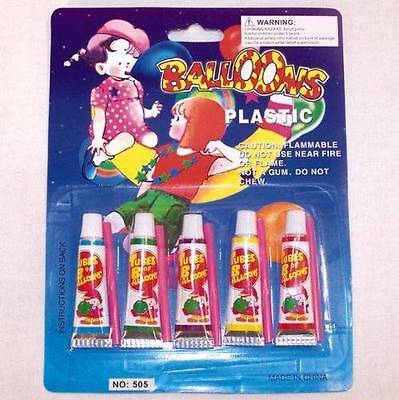 1 PKG PLASTIC BALLOONS bubble toys novelty blow up toy balloon bubbles ()