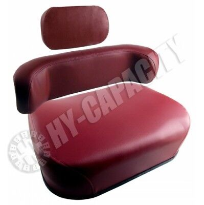 3 Pc Oliver Tractor White Wfe 2-85 2-105 Seat Maroon W Upper Back